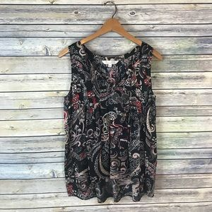 Odd Molly Anthro Black Floral Backstage Blouse